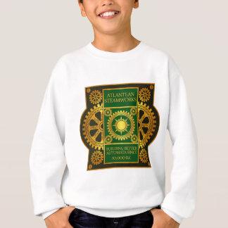 Atlantean Steamworks-Gold & Green on Green Leather Sweatshirt