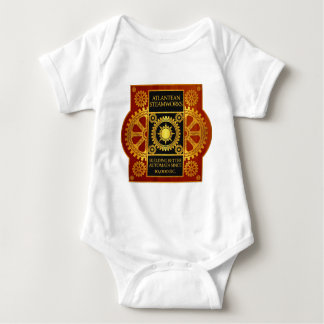 Atlantean Steamworks - Gold & Leather on Wood T-shirt