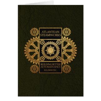 Atlantean Steamworks - Gold on Black & Green Card