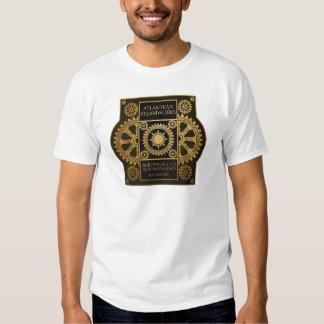 Atlantean Steamworks - Gold on Black & Green Shirt