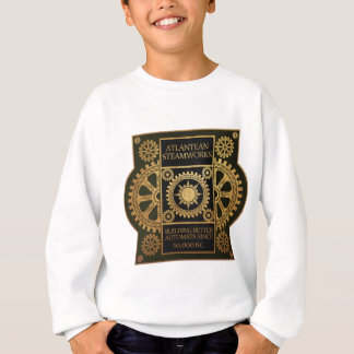 Atlantean Steamworks - Gold on Black & Green Sweatshirt