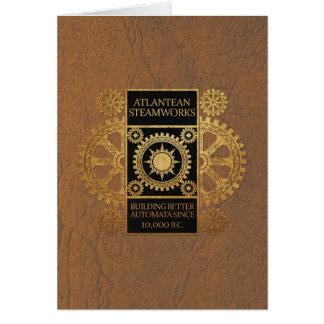 Atlantean Steamworks - Gold on Black & Tan Card
