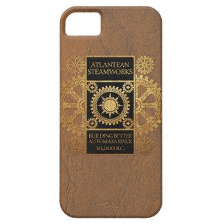 Atlantean Steamworks - Gold on Black & Tan iPhone 5 Covers