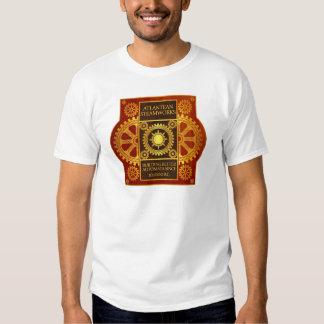Atlantean Steamworks - Gold on Cherrywood T Shirt