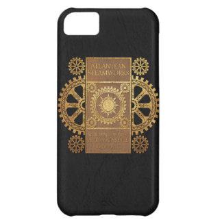 Atlantean Steamworks - Gold on Tan & Black iPhone 5C Cases