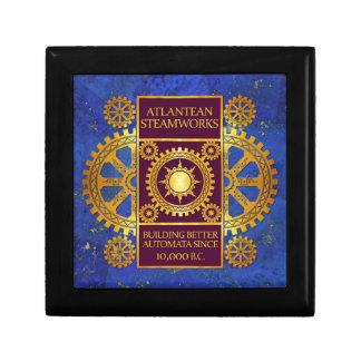Atlantean Steamworks-Gold & Purple on Lapis Lazuli Jewelry Box