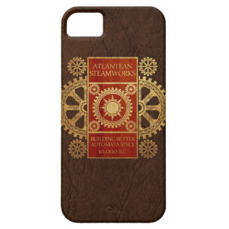 Atlantean Steamworks - Gold & Wood on Leather iPhone 5 Case