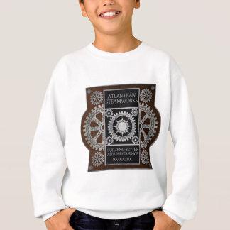 Atlantean Steamworks - Silver on Black & Brown Sweatshirt