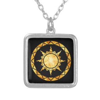 Atlantean Sun on Black Custom Necklace
