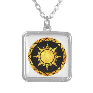 Atlantean Sun on Black Necklaces