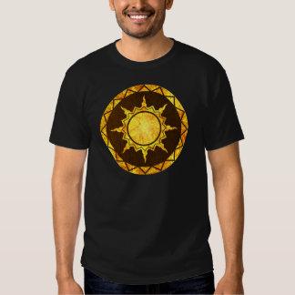Atlantean Sun on Brown Leather Tee Shirt