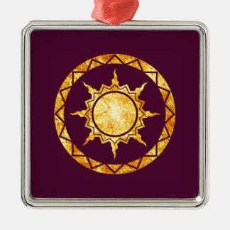 Atlantean Sun on Purple Ornament