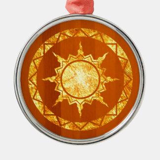 Atlantean Sun on Wood Christmas Ornament