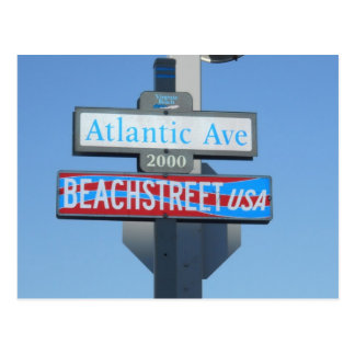 Atlantic Avenue, Virginia Beach, Virginia Postcard