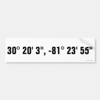 Atlantic Beach, FL Latitude/Longitude Sticker