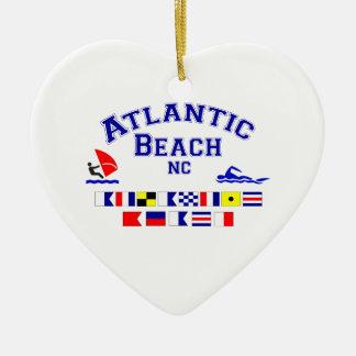 Atlantic Beach NC Signal Flag Ceramic Ornament