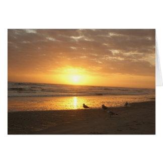 Atlantic Beach, NC, Sunset Card
