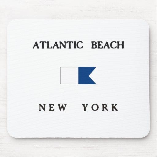 Atlantic Beach New York  Alpha Dive Flag Mousepad