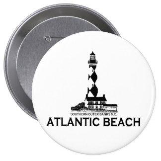 Atlantic Beach. Pinback Button