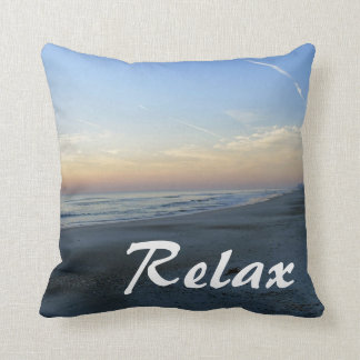 Atlantic Beach Sunrise Relax Throw Pillow