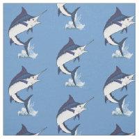 Atlantic Blue Marlin Fabric