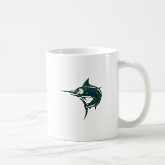 Atlantic Blue Marlin Scraperboard Coffee Mug