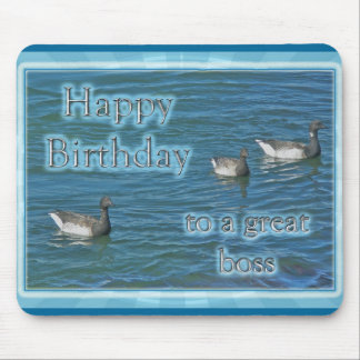 Atlantic Brant Geese Boss Birthday Mouse Pad