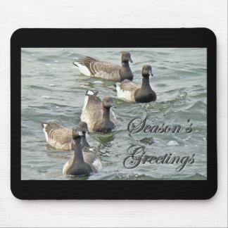 Atlantic Brant Geese Season s Greetings Series Mousepads