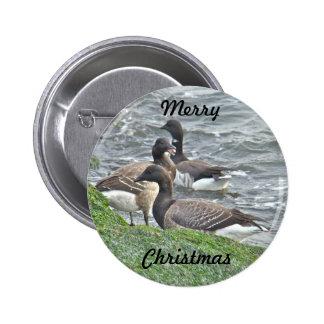 Atlantic Brant Geese Season's Greetings Series 2 Inch Round Button