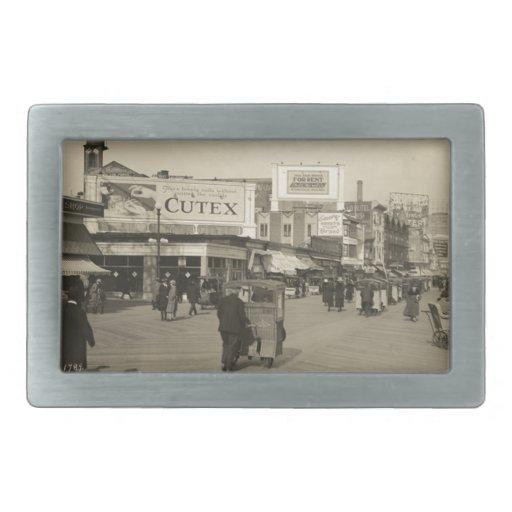 Atlantic City 1922 Hebilla Cinturón Rectangular