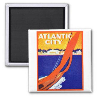 Atlantic City 1925 Imán Cuadrado