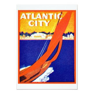 """Atlantic City 1925 Invitación 5"""" X 7"""""""