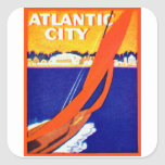 Atlantic City 1925 Calcomania Cuadradas Personalizada