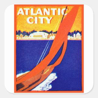 Atlantic City 1925 Pegatina Cuadrada