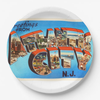 Atlantic City 1 New Jersey NJ Vintage Travel - Paper Plate