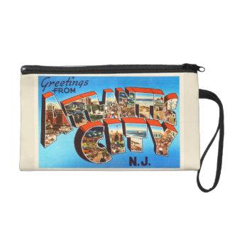 Atlantic City 1 New Jersey NJ Vintage Travel - Wristlet Purse