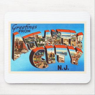 Atlantic City 1 viaje del vintage de New Jersey NJ Mousepads