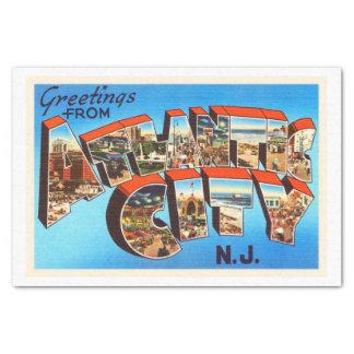 Atlantic City 1 viaje del vintage de New Jersey NJ Papel De Seda