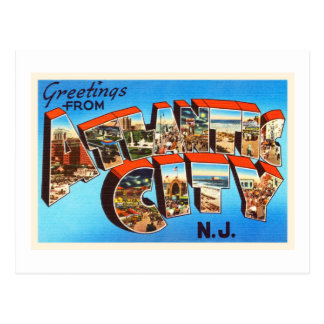 Atlantic City 1 viaje del vintage de New Jersey NJ Postales