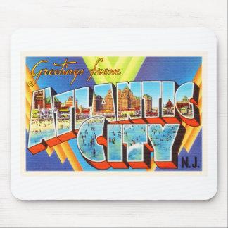 Atlantic City 2 New Jersey NJ Vintage Travel - Mouse Pad