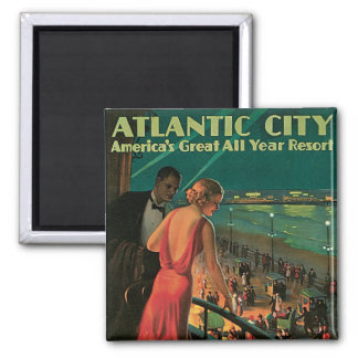 Atlantic City ~ All Year Resort Fridge Magnet