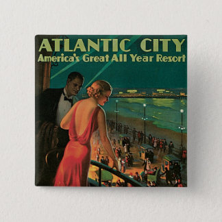 Atlantic City ~ All Year Resort Pinback Button