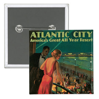 Atlantic City ~ All Year Resort Pinback Button