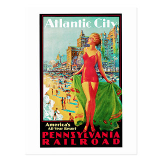 Atlantic City ~ America's All Year Playground Postcard