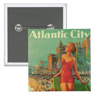 Atlantic City - America's All Year Resort 2 Inch Square Button