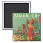 Atlantic City - America's All Year Resort 2 Inch Square Magnet