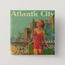 Atlantic City - America's All Year Resort Pinback Button