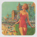 Atlantic City - America's All Year Resort Square Sticker