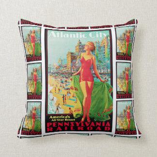 Atlantic City ~America's All-Year Resort Throw Pillow