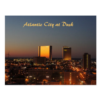 Atlantic City at Dusk Postcard